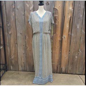 Lucky Brand Boho Turkish Maxi Dress Size Medium
